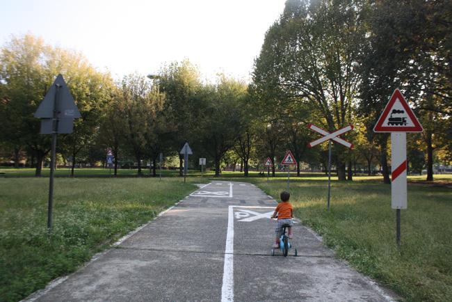 La mini pista ciclabile